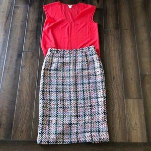 Halogen Multi -Color Knit Pencil Skirt, Size 4